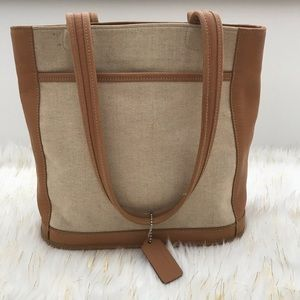 Coach Canvas/Leather Shoulder Bag